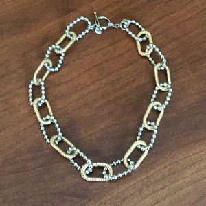 Faux Gold/Silver Chain Link Necklace